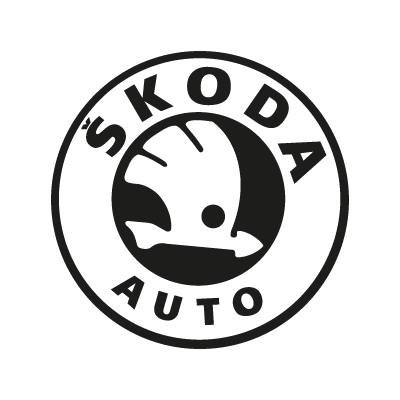 Skoda Auto black vector logo – Vector logo free download ...