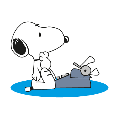 Snoopy character logo vector
