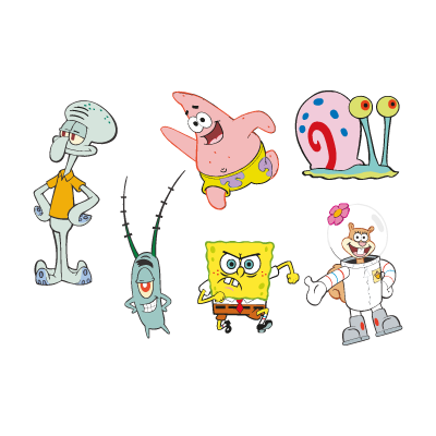 Spongebob Squarepants cartoon logo vector