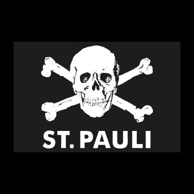 St.pauli totenkopf logo vector