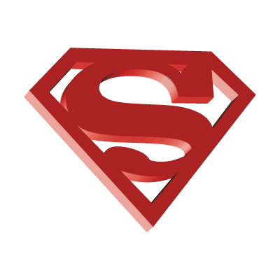 Superman 3D logo vector