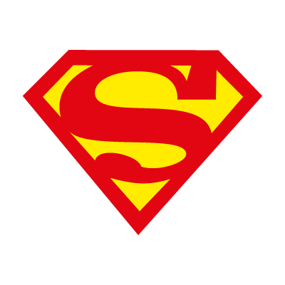 Superman char logo vector