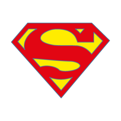 Superman fiction logo vector