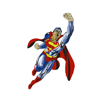 Superman flying logo vector