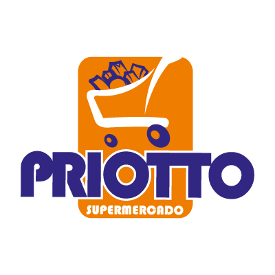 Supermercado priotto logo vector