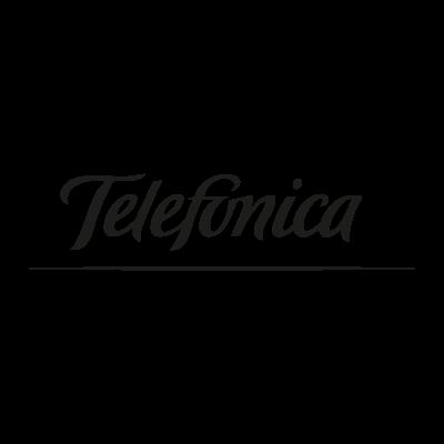 Telefonica black logo vector