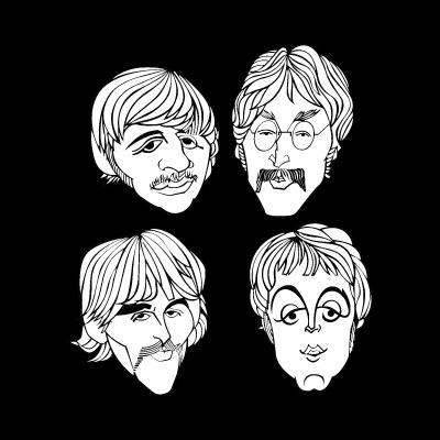 The Beatles band logo vector