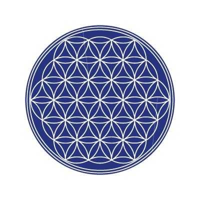 The flower of life vector logo