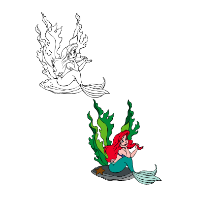 The little mermaid – Ariel logo vector