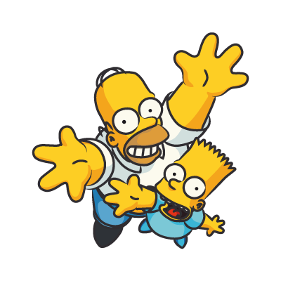 The Simpsons Homer vector logo free