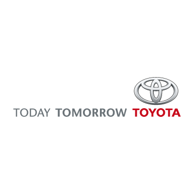 Today Tomorrow Toyota logo vector