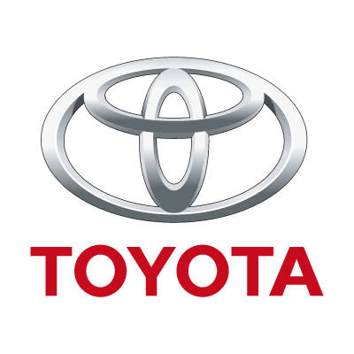 Toyota 3D logo vector