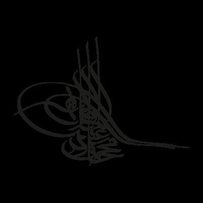 Tugra black logo vector