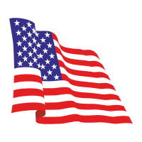 Flag of USA vector logo