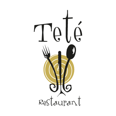Tete Restaurant vector logo