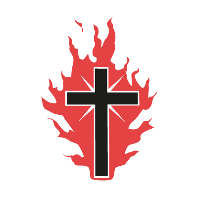 The Cross On Fire For God logo vector