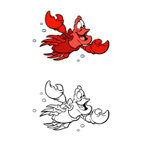 The little mermaid - Sebastian vector