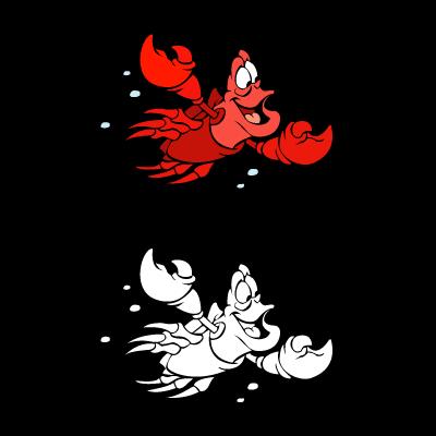 The little mermaid – Sebastian logo vector