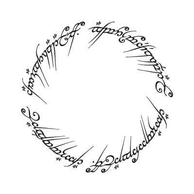 The One Ring logo vector
