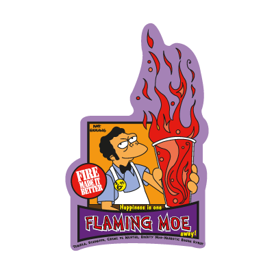 The Simpsons Flaming Moe logo vector