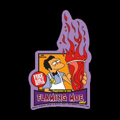 The Simpsons Flaming Moe logo vector