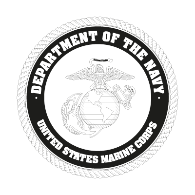 US Marine Corp Black logo vector