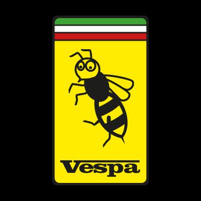 Vespa Ferrari logo vector