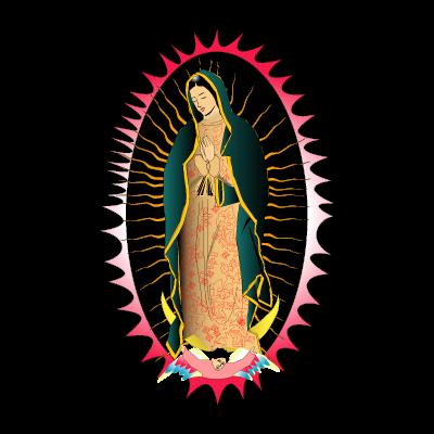 Viregn de Guadalupe logo vector