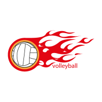 Volleyball vector logo