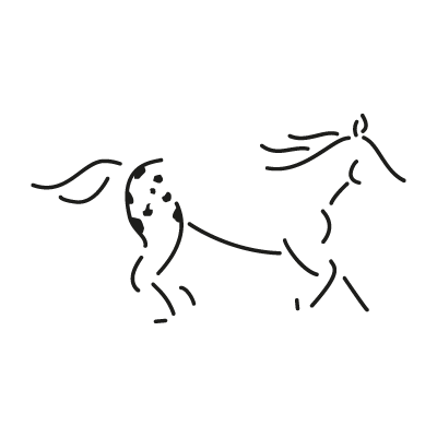 Walkaloosa Horse Ranch logo vector