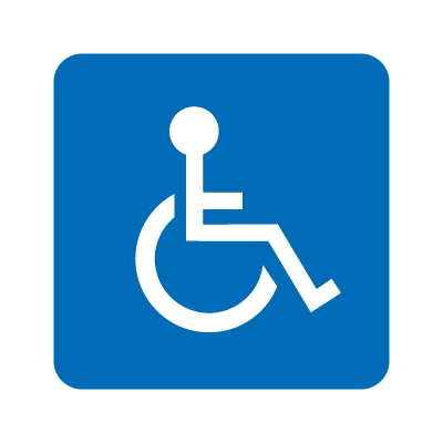 Wheelchair accessible logo vector