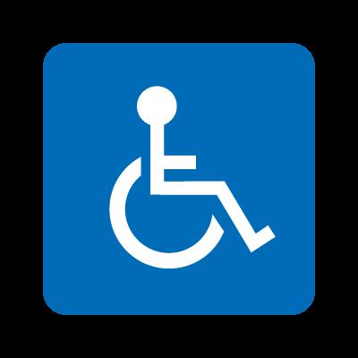Wheelchair accessible vector logo