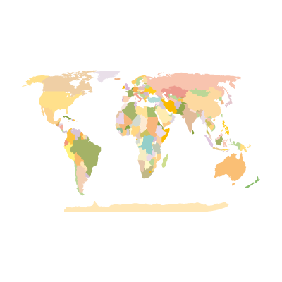 World Map Earth vector logo