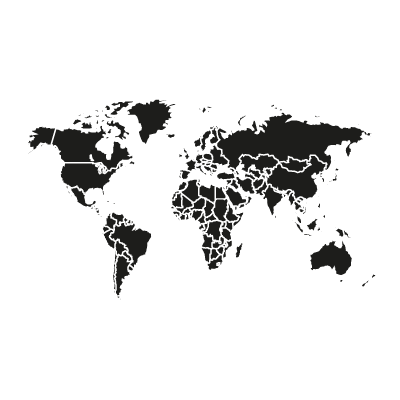 World vector black logo vector