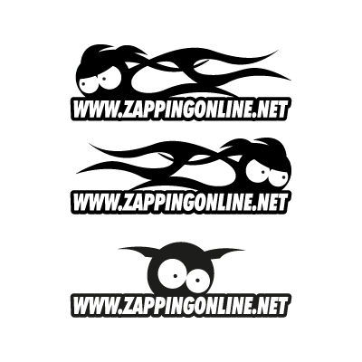 Zapping on line logo vector