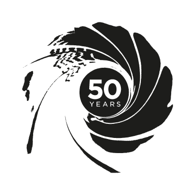 007 50th Anniversary logo vector