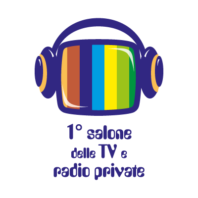 1 salone delle TV e radio private logo vector