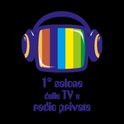 1 salone delle TV e radio private logo vector
