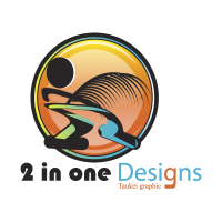 2 in one Designs vector logo