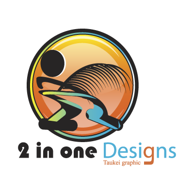 2 in one Designs logo vector