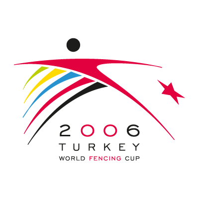2006 turkey world fencing cup logo vector