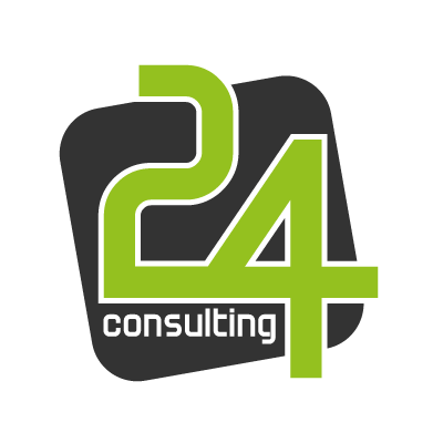 24 Consulting logo vector