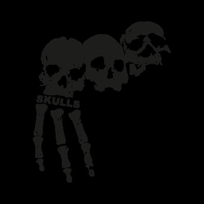 3 skulls logo vector