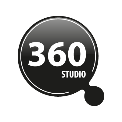 360 studio logo vector