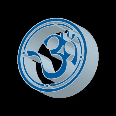 3D Aum logo vector