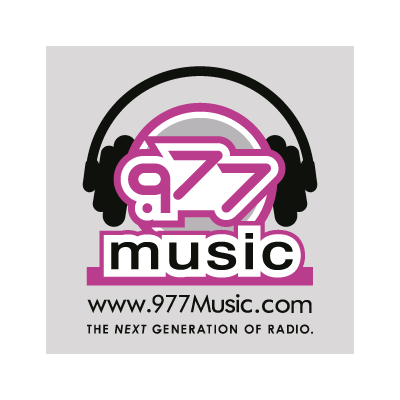 .977 music logo vector