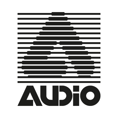 A Audio logo vector