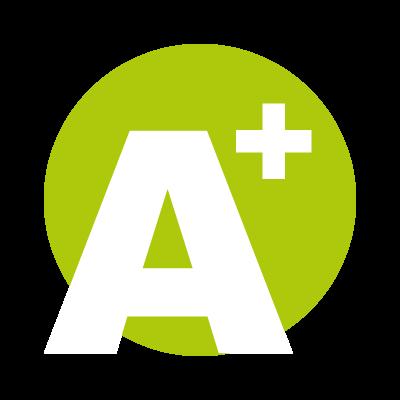 A Plus logo vector