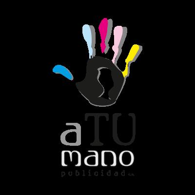A tu mano publicidad logo vector