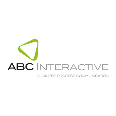 Abc interactive logo vector
